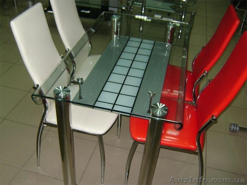 Столы из стекла для кухни цены
