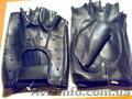 Перчатки без пальцев.Кожаные