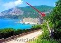 Живописный участок,  ЮБК,  бухта Ласпи,  вид на море и горы,  для дома Вашей мечты