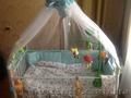 Голубая кроватка детская